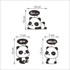 Baru Murah Karton Panda Switch Kulkas Wall Stiker Mobil Kids Room Mural Dekorasi Rumah