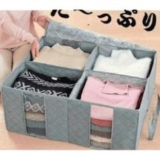 New Cloth Organizer Bag 4 Sisi Murah Tempat Box Baju Indonesia Diskon