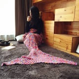 Beli Baru Colorful Spots Mermaid Tail Selimut Udara Buatan Tangan Rajutan Selimut Super Soft Sleeping Bag Oem