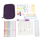 Toko New Colorful Tpr Lembut Handle Aluminium Crochet Hooks Jarum Rajut Set Intl Oem Hong Kong Sar Tiongkok