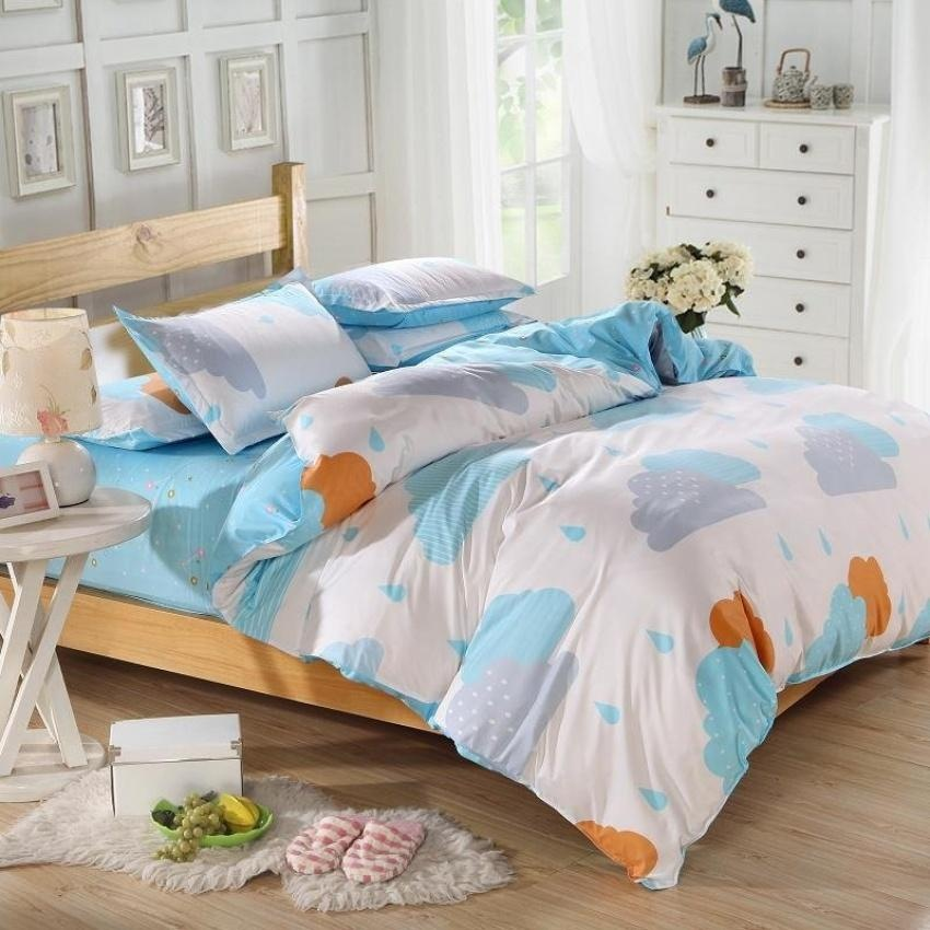 Baru Cotton Bedding Set Selimut Cover Set Bed Sheet Eropa Styleadults Set Kamar Tidur Anak-anak Queen/Full/Twin Size Bedlinen-Intl