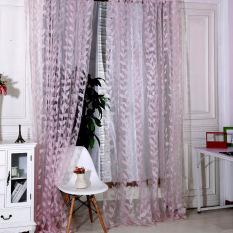 Jual Baru Bunga Kain Tule Kain Paul Tirai Jendela Pintu Berwarna Merah Muda Branded
