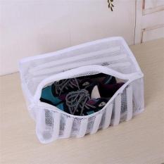 Baru Laundry Footwear Sneaker Washer Dryer White Mesh Wash Bag Sepatu Pakaian-Intl