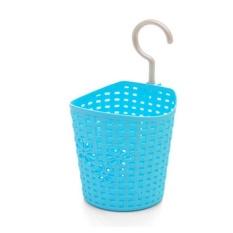 Baru Multifungsi Kamar Mandi Shower Dapur Sarung Tangan Plastik Rotan Keranjang Gantung Keranjang Penyimpanan Puing-puing Penyimpanan-Biru S-Intl