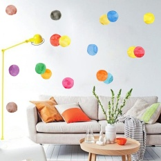 New Package 6sheets/bag Waterproof Furniture Stickers 36pcs Circle Shape Colorful Dot Wall Decoration Sticker For Bedroom Kids ZY-PA048 - intl