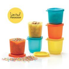 Diskon New Petite Square Set 6 Orange Biru Kuning Free Gift Box Tupperware Banten