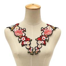 Baru Prem Blossom Bunga Kerah Sew On Stiker Applique Lencana Bordir Renda Gaun Cheongsam Pakaian Dekor DIY Aksesoris-Internasional