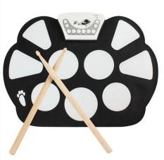 New Portable Digital Electronic Tabletop Roll up Drum Kit Standard Drum-Set - intl