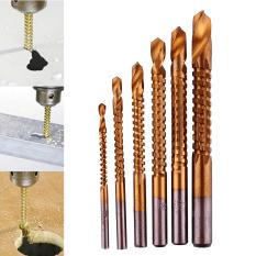 Katalog Baru Pro 6 Buah Titanium Dilapisi Hss Bor And Gergaji Memotong Kayu Sedikit Mengatur Slot 3 8Mm Oem Terbaru