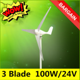 Harga New Ne 100S Environment Friendly Pro Quality 3 Blade Kit Dc 24 Volt Residential Wind Generator Wind Turbine 100W 24V Oem