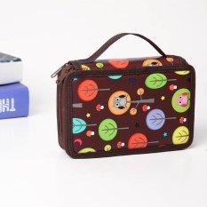 Spesifikasi Baru Pu Portable Menggambar Sketsa Pensil Pena Zipper Case Holder Bag Untuk 72 Pcs Pensil Untuk Anak 36 48 72 Intl Yang Bagus