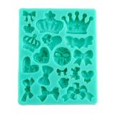 Harga Hemat Baru Tali Pengikat Silikon Crown Heart Sugarcraft Cetakan Warna Secara Acak Dekorasi