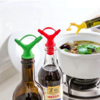 Baru Berguna 2 Tuangkan Mulut Plastik Top Kecap Botol Kaca Chic Alat Dapur-Internasional