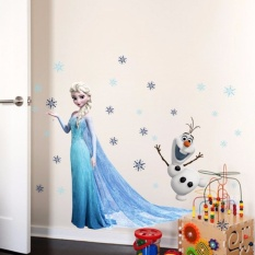 Review Tentang Kreatif Terbaru Pvc 3D Wall Stiker Wallpaper Dekoratif Homedecor Beku Film Star Untuk Anak Anak Kamar Tidur Ruang Tamu Dekorasi Intl