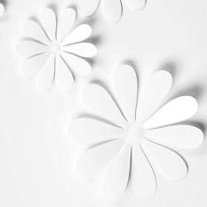 Newworldmall Tahan Lama Indah 5*12 Pcs 3D Stiker Dinding Bunga Simulasi Decal Kulkas Stiker Depan Kamar-Intl