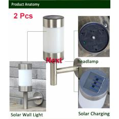 Next Lampu Outdoor LED Solar Cell Panel Surya Tenaga Matahari Stainless Steel