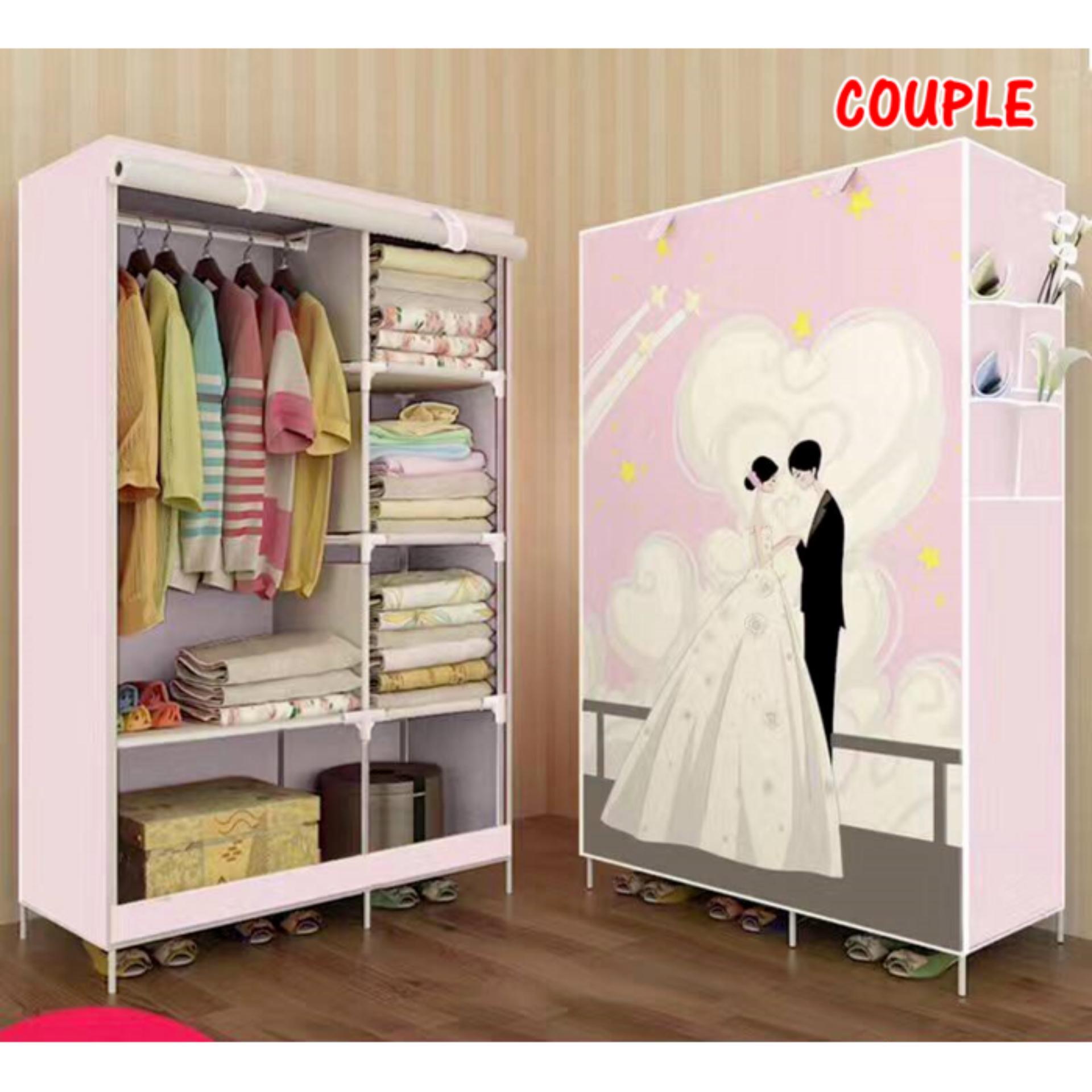 Info Harga Lemari Pakaian Singel Multifunction Wordrobe Rak Baju Super Jumbo Wardrobe Nf 2 Couple Serbaguna