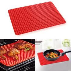 niceEshop 2 buah Pan Pyramid mengurangi lemak Non silikon memasak dan Oven kue di cetakan silikon  Merah - Internasional