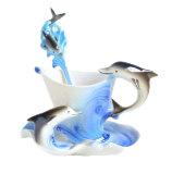 Tips Beli Niceeshop Lucu Yang Dapat Membuat Orang Yang Melihatnya Tertawa Terbahak Bahak Atau Justru Kesal Karena Merasa Ikan Lumba Lumba Porselen Buatan Tangan Teh Mug Cangkir Kopi Ditetapkan With Sendok And Piring Biru