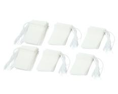 Harga Niceeshop Disposable Serut Seal Filter Kosong Kertas Kantong Teh Coaster Putih Ukuran Kecil Seperangkat 200 Online