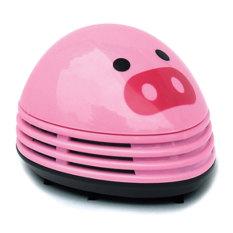Desktop Penyedot Debu Mini Listrik Pembersih Debu Berwarna Merah Muda Desain Gambar Babi Niceeshop
