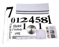 Jual Niceeshop Diseduh Sendiri Jam Dinding Modern 3D Nomor Besar Cermin Akrilik Stiker Dinding Permukaan Jam Hitam Niceeshop Murah