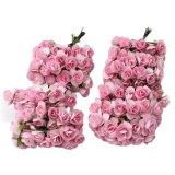 Jual Beli Niceeshop Kertas Tisu Bunga 12 Mawar Buket Untuk Pernikahan Dan Dekorasi Rumah 144 Buah Merah Muda Yang Mendalam Tiongkok