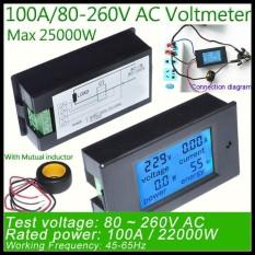 Nicenew Digital AC Tegangan Meter 100A/80 ~ 260 V Power Energi Voltmeter Analog Ammeter Watt Arus Amp Pengukur Tegangan Cangkir Gelas Termodinamika Termos- internasional