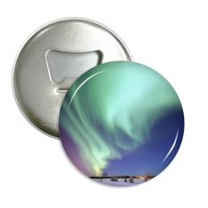 Malam Bintang Arktik Aurora Salju Sepanjang Pembuka Botol Magnet Kulkas Pins Lencana Tombol Hadiah 3 Pcs-Internasional