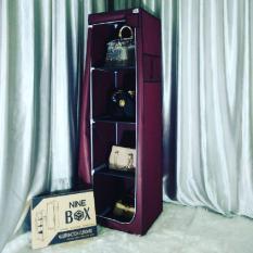 Harga Nine Box Multifunction Rack Organizer 4 Layer Rak Tas Rak Baju Lipat Type Lm04 Maron Online