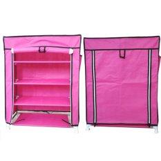 Promo Nine Box Rak Sepatu 5 Cover 4 Tingkat Merah Muda Dki Jakarta