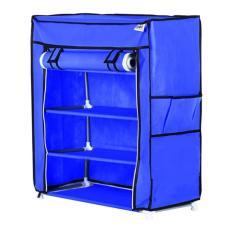 Harga Nine Box Rak Sepatu Dengan Cover 5 Tingkat 4 Ruang S4 Biru Dan Spesifikasinya