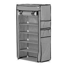 Spesifikasi Nine Box Rak Sepatu Dengan Cover 7 Tingkat 6 Ruang S6 Abu Abu Terbaik