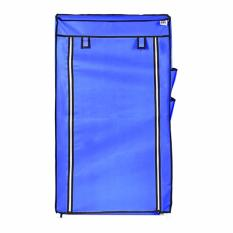Harga Termurah Nine Box Rak Sepatu Dengan Cover 7 Tingkat 6 Ruang S6 Biru