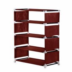 NINE BOX - Rak Sepatu Minimalis 5 susun/Rak sepatu portable/Rak serbaguna 5 susun - W5 MARON