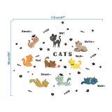 Spesifikasi Nine Cats Sticker Vinyl Home Decal Mural Kids Room Wall Window Car Art Decor Intl Online