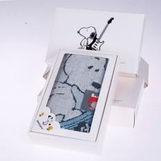 KING SHORE Handuk Warna Hijau Snoopy Tunggal Kotak Hadiah Pencuci Muka Handuk Anak Handuk Kecil Kartun