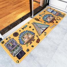 Non-Slip Panjang Keset Dapur dan Permadani Bisa Dicuci Keset Lantai Menyerap Air Karpet untuk Ruang Tidur Kamar Mandi Tahan Lama Pakaian Kaki Samping Kasur 50X150 Cm (hitam) -Intl