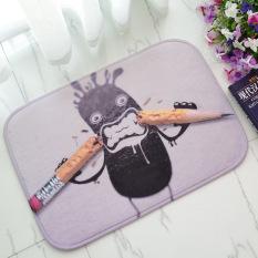 Busa Lunak Yang Tidak Licin 3D Angrily Rusak Pensil Bath Toilet Karpet Kamar Mandi Karpet Lantai Mat-Intl
