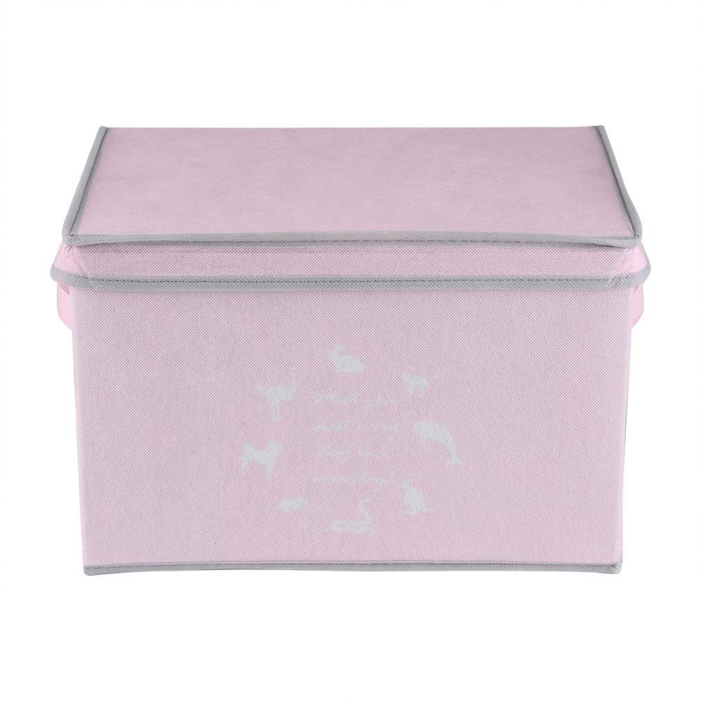 Pencari Harga big sale & ready stock Non-woven Foldable Thickening Storage Box Bins Basket with Lid terbaik murah - Hanya Rp107.578