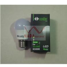 Nordex lampu LED 3W Paling Hemat Energi setara 18W bohlam biasa