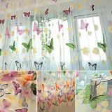 Harga Not Washable Floral Butterfly Sheer Curtains Sheers Voile Tulle Window Curtain Intl Yang Murah Dan Bagus