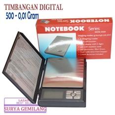 Notebook Series Timbangan Digital 500-0.01 gram timbangan emas permata akurat