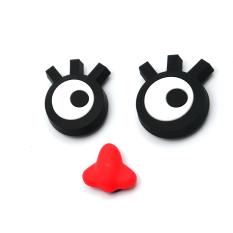 Rancangan Baru Dapur Kulkas Magnet Kulkas Stiker Rumah Dekoratif Alat Mata Besar + Merah Hidung Badut Set 3