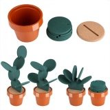 Review Novelty Potted Cactus Cup Mat Pad Heat Insulation Coasters Table Desktop Decoration Intl Terbaru