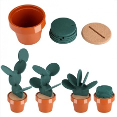 Beli Novelty Potted Cactus Cup Mat Pad Heat Insulation Coasters Table Desktop Decoration Intl Oem