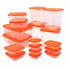 Review Toko Ntr Ikea Pruta Food Container Set 17 Pcs Orange Online