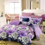 Spesifikasi Nyenyak Bedcover King 3D Motif Iris 180X200 Cm Online
