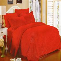Review Nyenyak Premium Line Sprei Single 100X200X30 Cm Warna Apple Red Royal Embossed Nyenyak