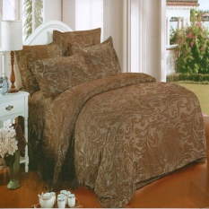 Harga Nyenyak Premium Line Sprei Single 100X200X30 Cm Warna Chocolate Royal Embossed Baru
